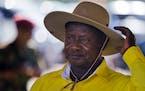 Uganda's long-time President Yoweri Museveni attends a 2016 election rally at Kololo Airstrip in Kampala, Uganda.