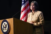 """Rep. Betty McCollum, D-Minn., said it was a """"huge honor"""" to preside over the impeachment debate Wednesday."""