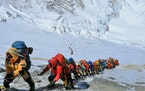 Climbers ascended Mount Everest in 2019. K2 is said to be a tougher and more dangerous climb, partly because of weather.