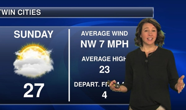 Evening video: Low of 19 with lots of clouds, setting up a quiet Sunday