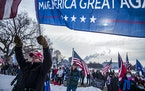 A rally in support of President Donald Trump on the steps of the Minnesota State Capitol on Wednesday, Jan. 6, 2021 in St. Paul.