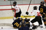 Gentry Academy boys' hockey slams on the gas pedal, records eight goals to put away Breck