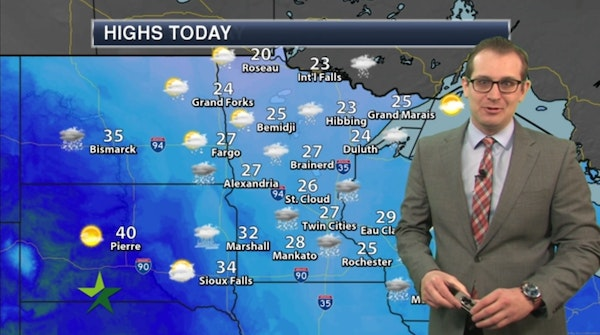 Morning forecast: Cloudy, high 27