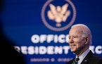 President-elect Joe Biden speaks at an event focused on his administration's science policy, at the Queen Theater in Wilmington, Del., on Saturday,
