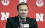 Fred Hoiberg smiles as he is introduced as Nebraska's new NCAA college basketball head coach at a news conference in Lincoln, Neb., Tuesday, April 2