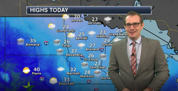 Evening forecast: Slight chance snow, then cloudy