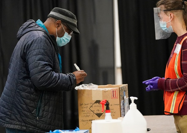 James Page turned in a COVID test after touring the Minneapolis Convention Center testing facility. The FDA says some tests carry a slight risk of ina
