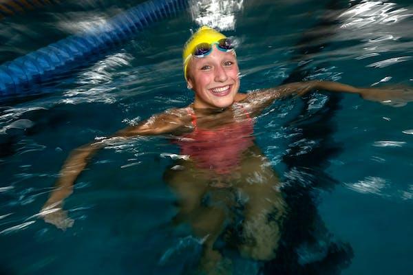 Isabelle Stadden of Blaine won the women's 200-meter backstroke Sunday at the Pro Swim Series meet in San Antonio.
