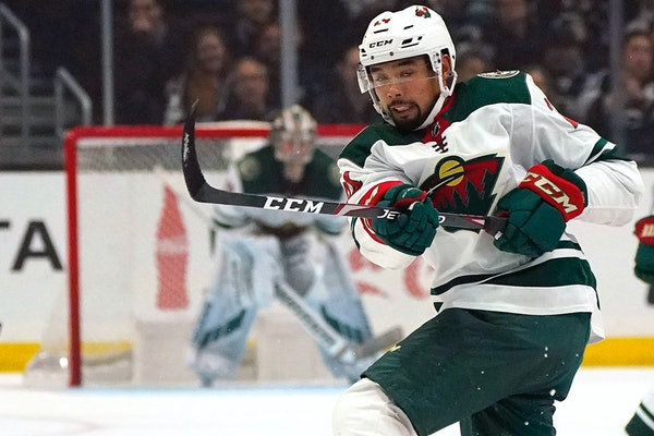 Wild defenseman Matt Dumba had two goals in Saturday's 4-3 overtime victory over the Kings, including the game-tying goal with two seconds remaining