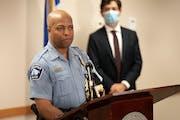 "Police Chief Medaria Arradondo, left, and Mayor Jacob Frey in a file image. On Tuesday, Dec. 29, 2020, Arradondo said, ""Good peace officers do not wan"