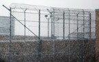 The razor wire that surrounds the state-operated sex offender treatment center in Moose Lake. Offenders have been protesting what they see as unsafe c