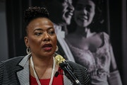 FILE - In this Jan. 9, 2020 file photo, Bernice King, daughter of slain civil rights leader Rev. Martin Luther King Jr., speaks about a series of even
