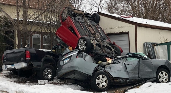 The crash occurred about 2:30 a.m. near E. 42nd Street and S. Oakland Avenue, police said.   Credit: Minneapolis Police Department