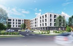 Construction is beginning on a 70 unit affordable apartment complex this week in Edina. The $23 million project is expected to open in 2022. (Renderin