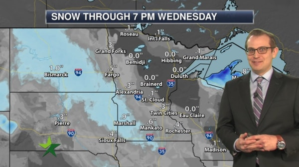 Afternoon forecast: Mostly cloudy, a few flurries; high 20