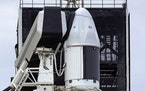 The SpaceX Falcon 9 rocket sat on the launch pad carrying the CRS-21 Cargo Dragon 2 capsule, Friday, Dec. 4, 2020, as it readied for launch. Whe