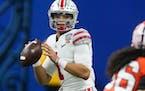 Ohio State quarterback Justin Fields is forgoing his senior season to enter the NFL draft.