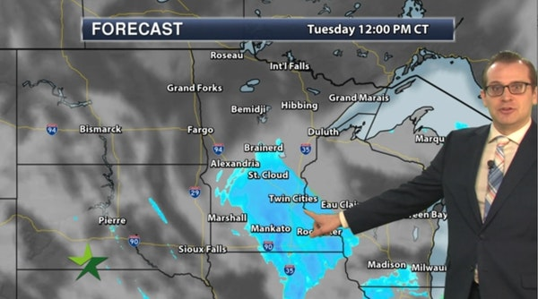 Morning forecast: Quick coating of snow, high 19