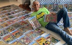 Boca Raton's Randy Lawrence auctioned off his famous Batman comic book collection that was stolen almost two years ago.