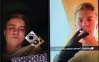 Dayton Sauke of Owatonna posted multiple photos of himself on Snapchat illegally possessing firearms and threatening to kill law enforcement, federal