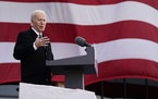 "President-elect Joe Biden speaks at the Major Joseph R. ""Beau"" Biden III National Guard/Reserve Center, Tuesday, Jan. 19, 2021, in New Castle, Del"