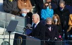 President Joe Biden delivered his inaugural address at the Capitol in Washington on Wednesday, Jan. 20, 2021.