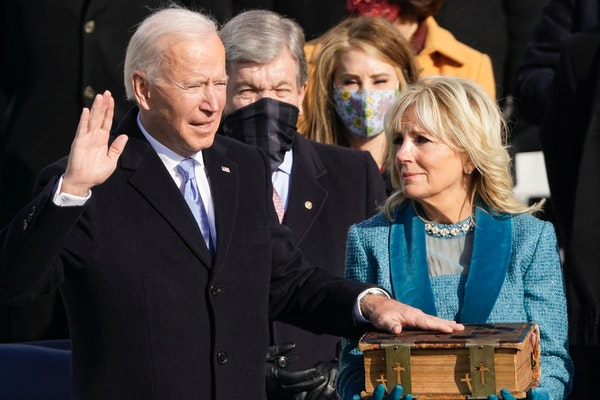 Joe Biden takes presidential oath: 'Democracy has prevailed'