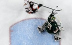 Kaapo Kahkonen made a save against Anaheim on Dec. 10, 2019 at Xcel Energy Center.