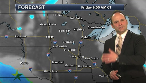 Evening forecast: Low of 1, with cold sticking around