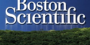 A Boston Scientific Corporation logo is displayed in Massachusetts in July 2010. (AP file photo.) ORG XMIT: MIN2007291205221026