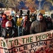 Demonstrators from more than a dozen progressive groups led a rally and protest march in Minneapolis on Inauguration Day.