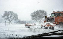 Plows were busy on Hwy. 52 near Zumbrota during an snowstorm in 2020.