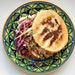 Pulled chicken arepa from Arepa Bar