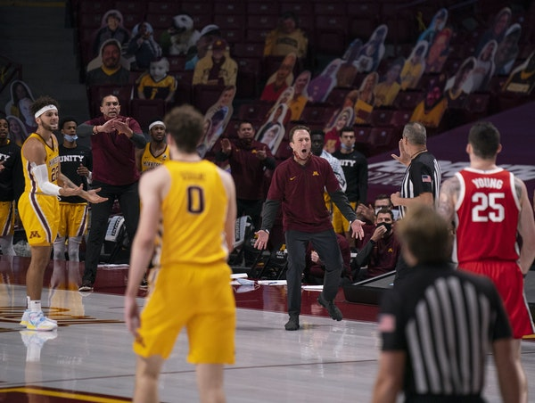 Richard Pitino's pleas to officials are easily heard now that Williams Arena is empty for Gophers games.