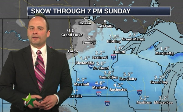 Evening forecast: Low of 5 ahead of a few inches of weekend snow