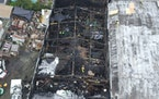 This undated photo provided by the City of Oakland shows inside the burned warehouse after the deadly fire that broke out on Dec. 2, 2016, in Oakland,