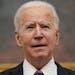 President Joe Biden speaks at the White House on Thursday.