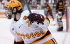 Gophers forward Brannon McManus had four goals — three Thursday night and one Friday — and three assists in the sweep over Arizona State.