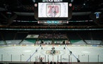 The Minnesota Wild and San Jose Sharks faced off in a nearly empty Xcel Energy Center for the Wild's home opener in their 20th season on Friday, Jan