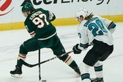 Wild left wing Kirill Kaprizov made a nifty move between his legs toward the net in the third period Friday night.