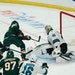 Wild forward Zach Parise scored his first goal of the season against Sharks goaltender Devan Dubnyk in the second period Friday at the Xcel Energy Cen