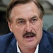 MyPillow CEO Mike Lindell, seen on Jan. 10, 2020, signing his book, said he is rethinking pouring his own money into a run for office.