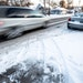 Ice and snow was packed along Edgerton Street in St. Paul.