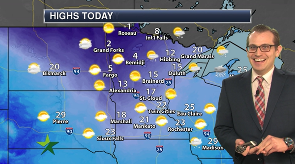 Afternoon forecast: High 22, sunny skies