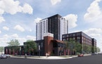 Sherman Associates plans to build a 21-story tower on a three-quarter block site that will include a new fire station at the corner of Washington and
