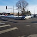 A motorist in the left turn lane on northbound Johnson Street at 18th Avenue NE. entered the intersection and continued straight, cutting off drivers