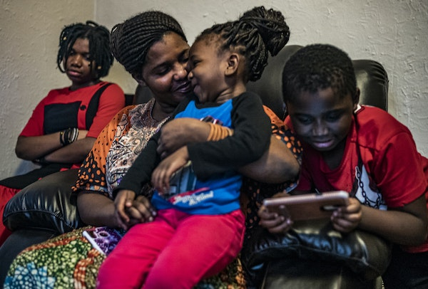 """""""We are running away from death and war ... but here it seems like it's the same thing,"""" said Machozi Rashidi, a Congolese mother of six who lef"""