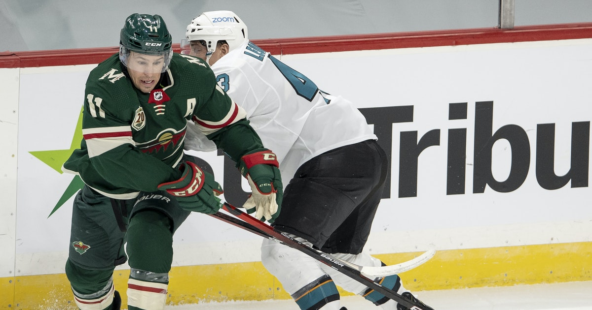 Sharks score late goal to edge Wild 5-3