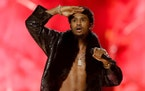 R&B singer Trey Songz performs at the BET Awards on June 25, 2017, in Los Angeles. Songz was arrested during the AFC Championship game in Kansas