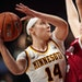Gophers guard Sara Scalia (shown against Indiana in a December game) scored 21 points to help the Gophers beat Penn State 85-76 on Monday.